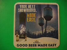 Beer Coaster ~  ~ HENRY WEINHARD'S ~ Oregon & Wisconsin ~ Win a Custon Snowboard