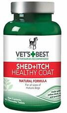 Vet's Best Healthy Coat Shed Itch Relief Dog Supplements   Relieve Dogs Skin Irr