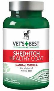 Vet's Best Healthy Coat Shed Itch Relief Dog Supplements | Relieve Dogs Skin Irr