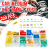 220Pcs Assorted Mini & Standard Auto Blade Fuses Car Auto Van Fuse Set 5-30A