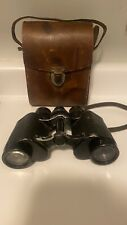 Steinheil Munchen Antique Ww2 Binoculars With Orginal Leather Case