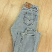 vtg usa LEVIS 505 fit orange tab jeans 34 x 30 tag medium wash faded dad 80s 90s