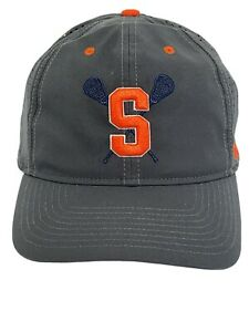 Syracuse Lacrosse Black Orange Nike Heritage86 Hat Cap Sz L/XL NEW