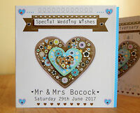 Personalised card Wedding Day Engagement Anniversary Congratulations Special