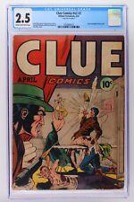 Clue Comics #v2 #2 - Hillman 1947 CGC 2.5 Classic bondage torture cover.