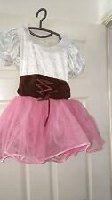 White and pink tutu with brown corset