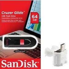 SanDisk 64GB USB SD CZ60 Cruzer Glide 64G USB 2.0 Drive SDCZ60-064G +T06W OTG