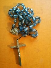 Padre PIO Cattolico Rosario SANTA RELIQUIA SAN PADRE PIO 6mm BLU ITALIA
