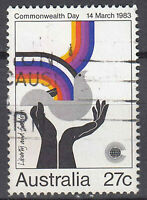 Australien Briefmarke gestempelt 27c Commonwealth Day 14 March 1983 / 95