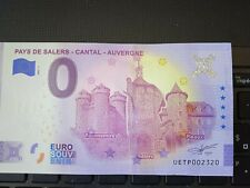 BILLET EURO SOUVENIR 2021-1 PAYS DE SALERS CANTAL AUVERGNE ANNIVERSAIRE
