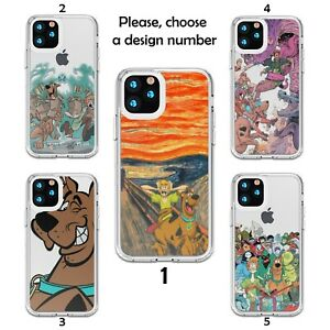 Design Scooby Doo case for iPhone 12 11 Pro Max XR SE X XS 8 7 clear silicone SN