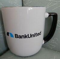 """BANK UNITED, Logo, 4 1/4""""  Mug, EUC"""