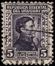 "URUGUAY 357A (Mi642) - General Jose Artigas ""1943 Deep Violet"" (pf1991)"