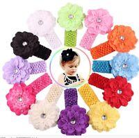 bandeau bébé fleur élastique tête accessoire cheveux fille enfant mariage fête