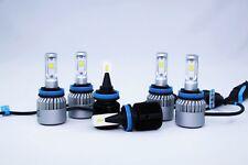 Bright White LED Headlights High and Low Fog Spot light Combo for VW Amarok MKI