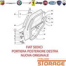 FIAT SEDICI PORTA PORTIERA POSTERIORE DESTRA NUOVA ORIGINALE 71743028