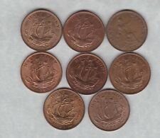 More details for eight george v & vi halfpennies 1936 to 1951 in high grade condition.