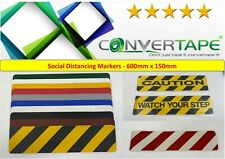 2 Meter Social Distancing Floor Markers Anti-Slip Safety Tape 150mm 600m QTY 3