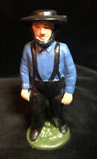 New listing Vintage Solid Iron/Cast Iron Amish Country Man Folk Art Decor 4 1/4�