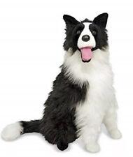"""Melissa & Doug Border Collie Dog Giant Stuffed Animal Life Sz Plush, 27"""" H x 22"""""""