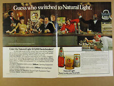 1980 mickey mantle joe frazier photo Natural Light Beer vintage print Ad