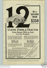 1917 PAPER AD Curtis Form A Tractor Farm Convert Any Car Auto Automobile