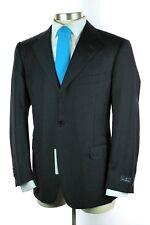 NWT $2395 ERMENEGILDO ZEGNA Swiss Solid Charcoal Wool Dual Vent Suit 52 42 S