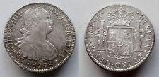 SPAIN COIN CAROLUS IIII CARLOS IV 8 REALES 1798 MEXICO PLATA SILVER ORIGINAL