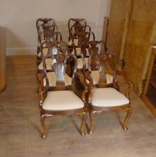 Walnut Dining Chairs - Queen Anne Set of 10
