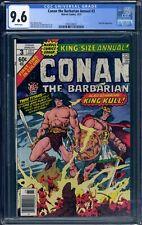 CONAN THE BARBARIAN ANNUAL #3 - CGC 9.6 WP - NM+ 1977 - KING KULL