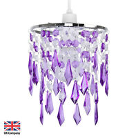 Modern Acrylic Crystal Ceiling Pendant Light Shade Jewel Chandeliers Shades NEW
