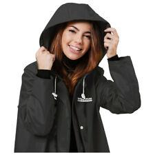 1pce Raincoat Premium Adult Black Water Proof Plastic Hood Dry Large Female