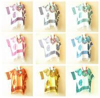 Batik Abstract Caftan Boho Plus Kimono Poncho Hippy Women Blouse Top up to 5X