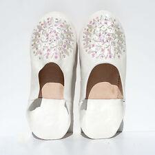 Orientalische Lederschuhe  Marokko ECHT LEDER Pantoffel Schuhe Mosona_Weiss