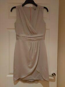 Ladies Sleeveless Dress H&M Size Eur 36 UK 8 Silver Grey Party Wedding