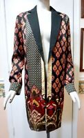 NWT $139 Chico's Damask Print Open Front Jacket, Multi-Color, Choose a Size!