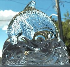 FINE DECORATIVE COLLECTIBLE IS THIS DOLPHIN PARTYLITE AS IT JUMPS OVER THE WAVES