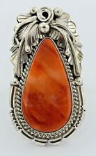 Navajo Handmade Sterling Silver Spiny Oyster Ring  - Alfred Martinez