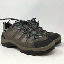 LL Bean Womens Hiking Shoes Boots Suede Leather Gore-Tex Vibram Sole Size 10W