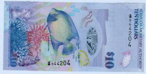 Bermuda, $10, 2009,  P-59, Prefix Onion, QEII, about UNC AU low shipping option