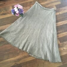 Kew Size 12 Skirt Beige Tweed Style Wool mix flared Maxi Skirt M2