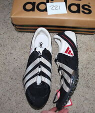 New ADIDAS ADISTAR 2 SP Track sprint running shoe US 15 BLACK white NO SPIKES