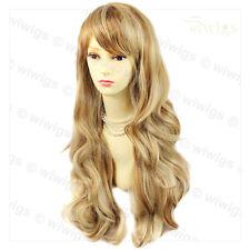 Wiwigs Strawberry Blonde Long Layered Way Skin Top Ladies Wig