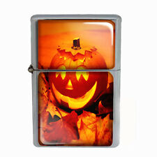 Wind Proof Dual Torch Refillable Lighter Halloween Design-001