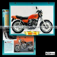 #106.07 Fiche Moto YAMAHA XJ 400 (XJ400) 1981 Motorcycle Card ヤマハ