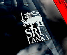Sri Lanka Lion - Car Window Sticker - National Flag Ceylon Cricket Sign