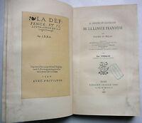 la DEFFENCE y ilustración de LENGUA Lesclarcissement JOACHIM del BELLAY. 1887