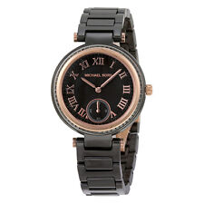 MICHAEL KORS MK6242 Skylar Black Dial Ceramic Ladies Watch RRP £379