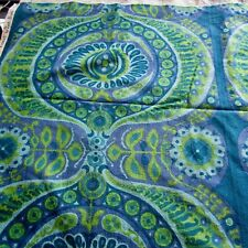 52cm x 63cm Heals Pageant Blue Green Purple Vintage Barkcloth fabric 1966 1960s