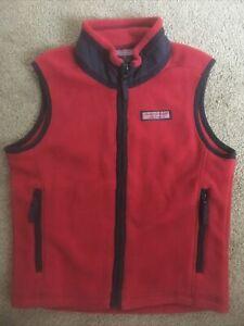 Boys Vineyard Vines Martha's Vineyard size 6 Red polyester fleece vest Stylish